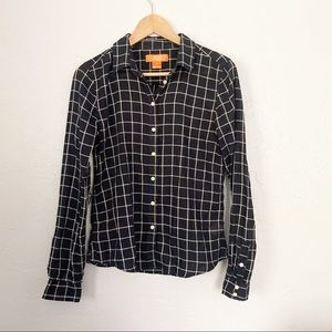 Joe Fresh plaid button down cotton shirt small